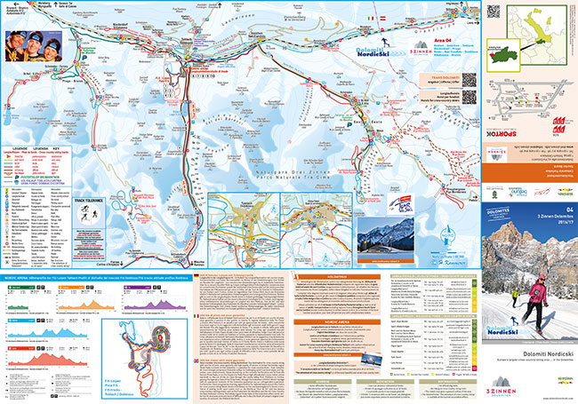 Cross-country skiing map Alta Pusteria
